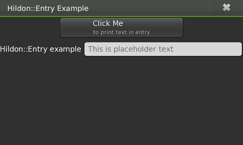 TextView and Entry